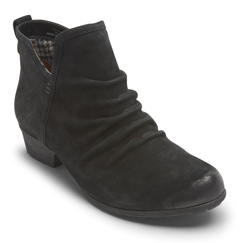 Cobb Hill Gratasha Panel II Black Nubuck Boot  (Women)