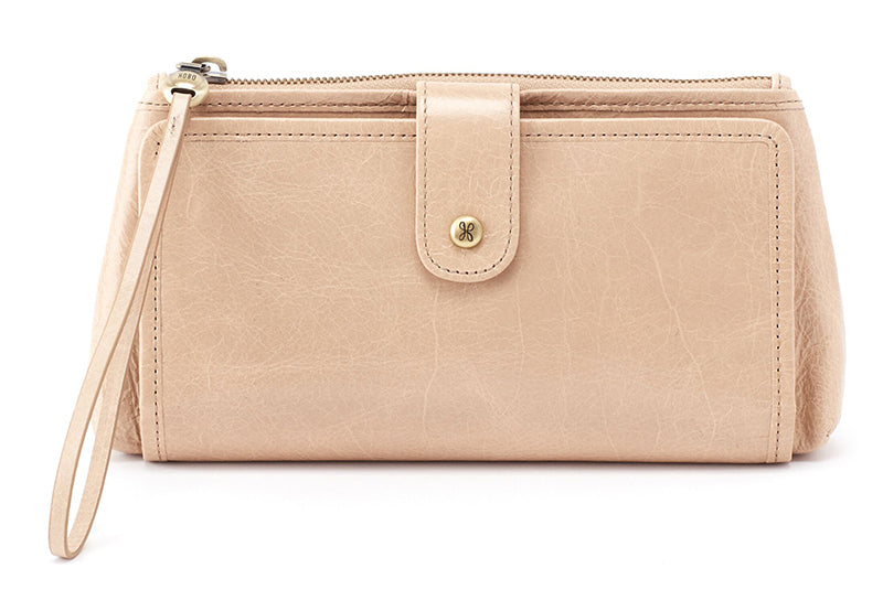 Hobo Cleo Parchment Leather Wristlet (Women)