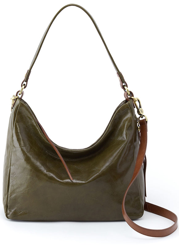 Hobo Delilah Mistletoe Green Leather Handbag (Women)