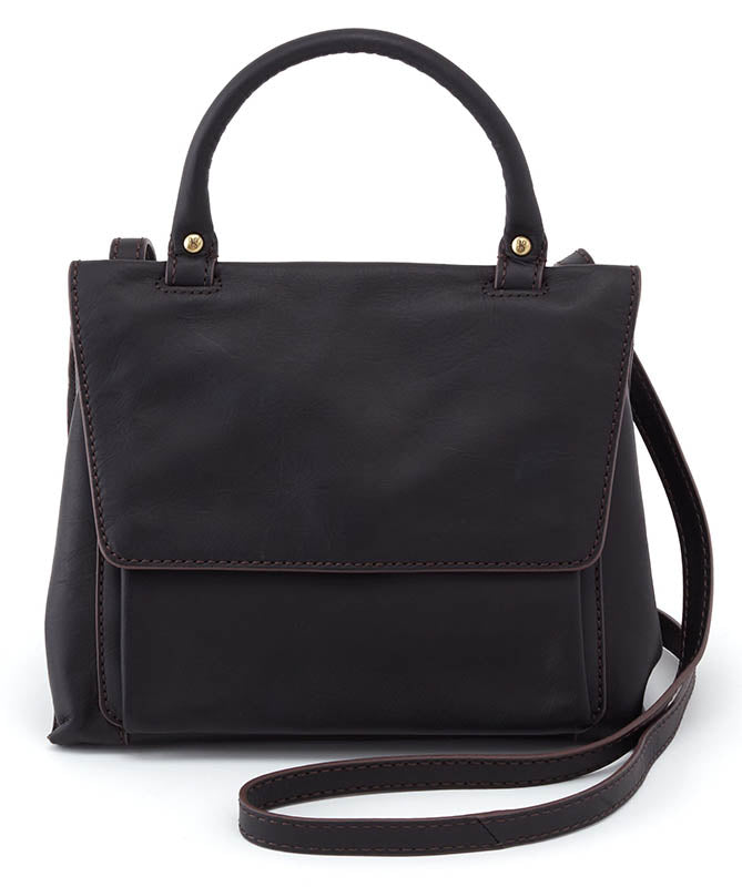 Hobo Meter Black Leather Handbag (Women)