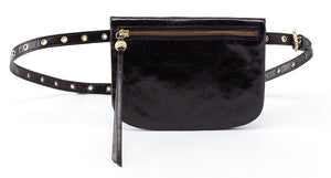 Hobo Saunter Black Leather Belt Handbag (Women)