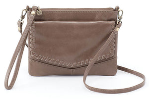 Hobo Stroll Gravel Leather Crossbody Handbag (Women)