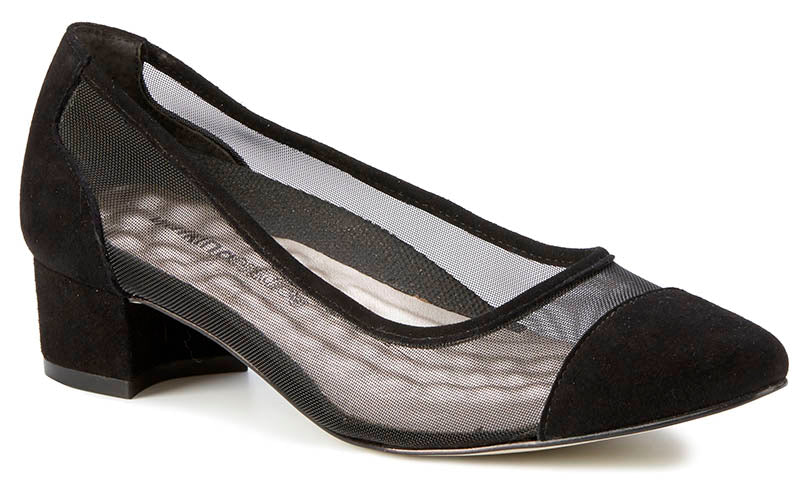 Walking Cradles Hepburn Black Mesh Pump (Women)