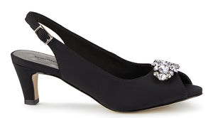 Walking Cradles Jordana Black Fabric Pump (Women)