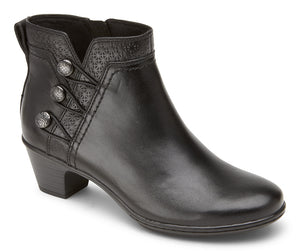 Cobb Hill Kailyn Ankle Black Leather Boot  (Women)