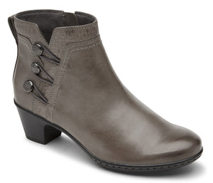 Cobb Hill Kailyn Ankle Grey Leather Boot  (Women)