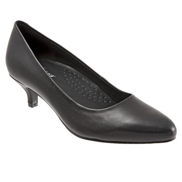 Trotters Kiera Black Leather Pump (Women)