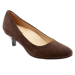 Trotters Kiera Brown Suede Pump (Women)