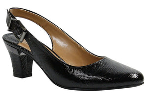 J. Renee Malree Black Lizard Print Pump (Women)
