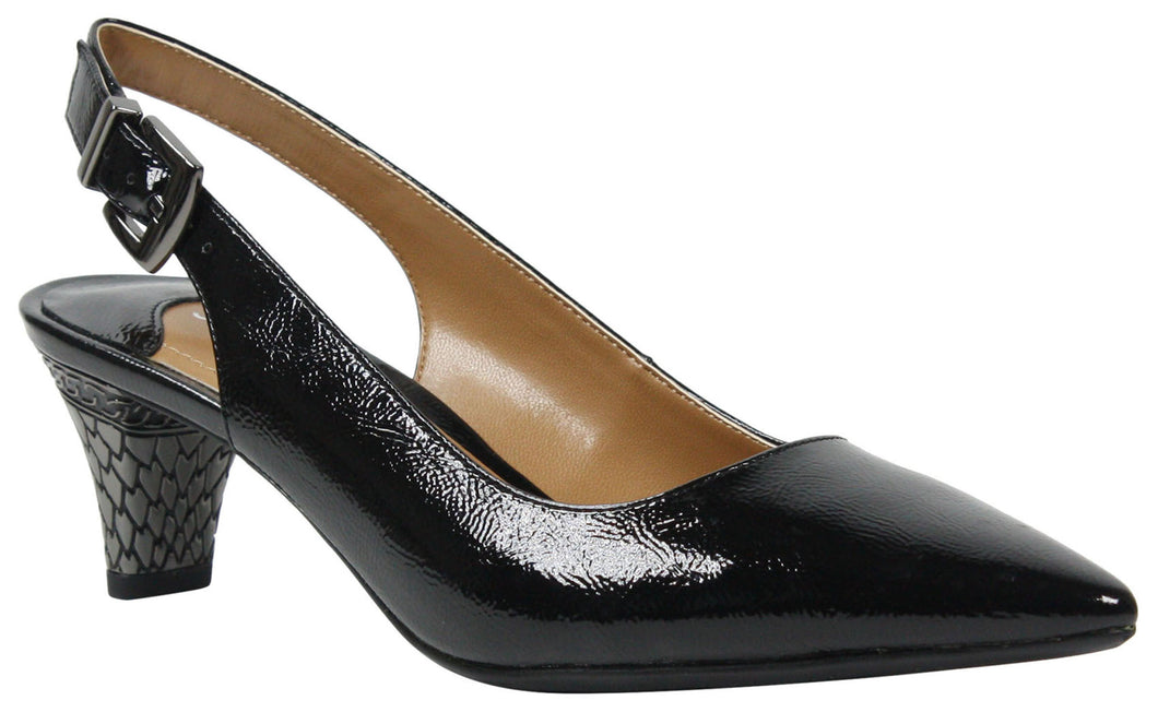 J. Renee Mayetta Black Patent Pump (Women)
