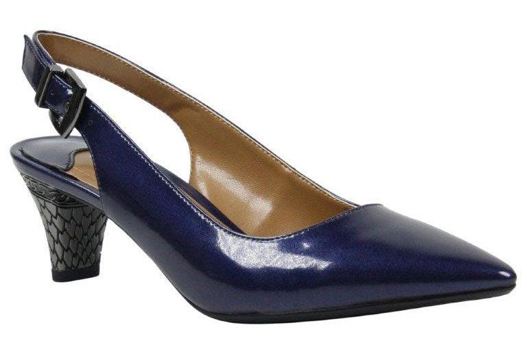 J. Renee Mayetta Navy Patent Pump (Women)