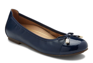 Vionic Minna Navy Leather Flat (Women)