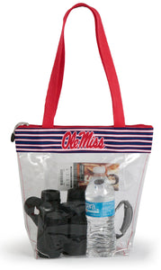 Ole Miss Clear Stadium Tote Handbag (Women)
