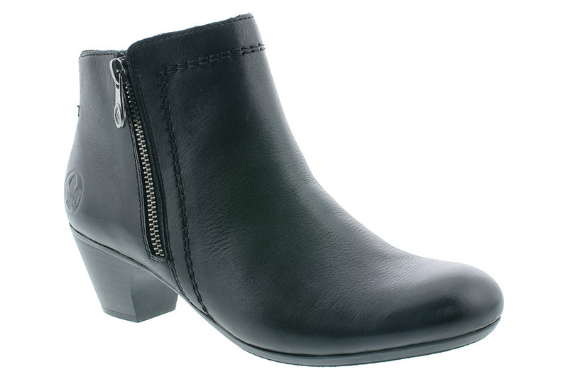 Rieker Sarah51 Black Leather Boot (Women)