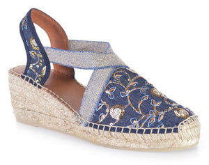 Toni Pons Terra-Or Denim Fabric Sandal (Women)