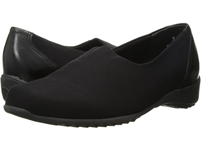 Munro Traveler Black Stretch Fabric Slip-on (Women)