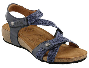 Taos Trulie Navy Leather Sandal (Women)