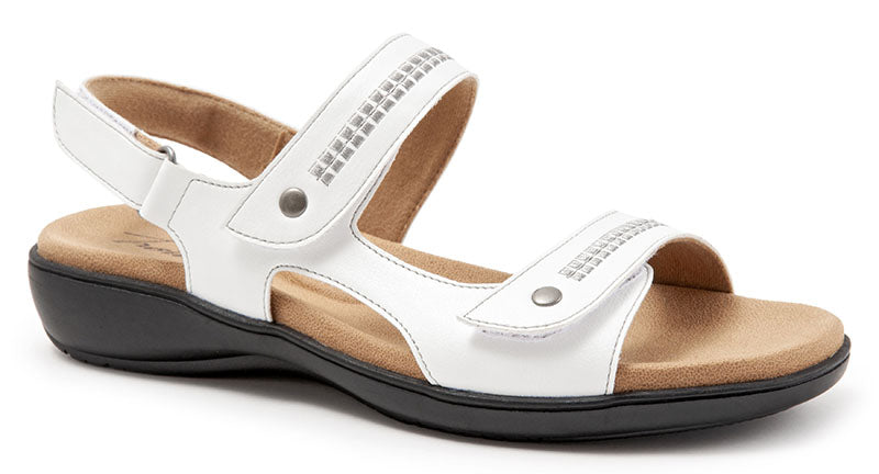 Trotters Venice White Leather Sandal (Women)