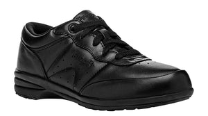 Propet Washable Walker Black Leather Sneaker (Women)