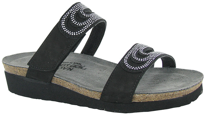 Naot Ainsley Black Crystals Sandal (Women)