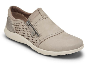 Cobb Hill Amalie Zip Taupe Leather Slip-on (Women)
