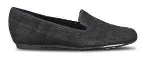 Munro Barb Black Print Fabric Loafer (Women)