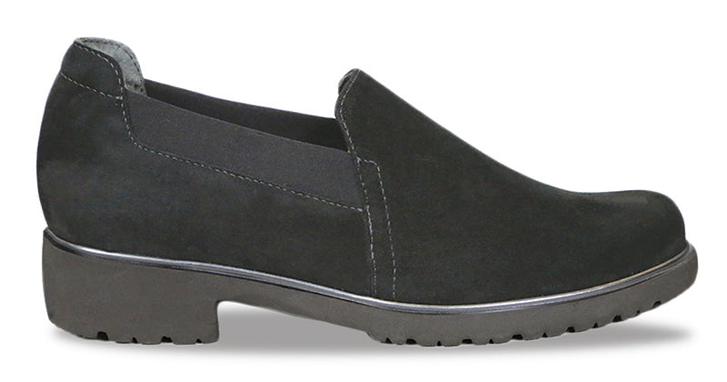 Munro Becca Black Suede Loafer (Women)