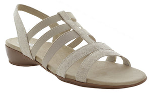 Munro Bev Beige Cork  Stretch Sandal (Women)