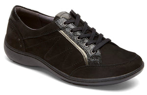 Aravon Bromly Black Leather Oxford (Women)