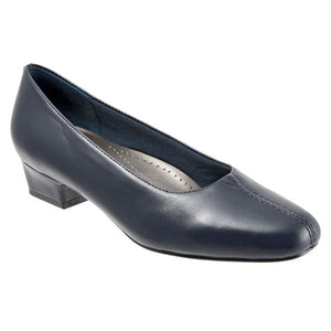 Trotters Doris Navy Leather Pump (Women)