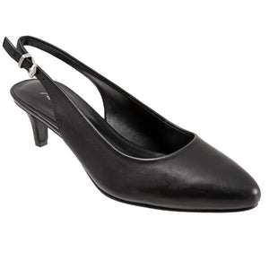 Trotters Keely Black Leather Pump (Women)
