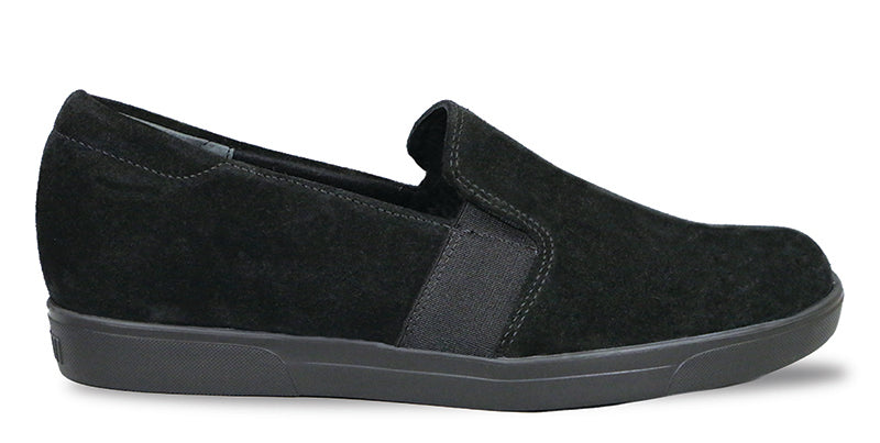 Munro Mandie Black Suede Slip-on (Women)