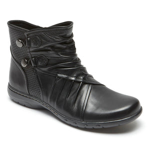 Cobb Hill Penfield Bungee Black Leather Boot  (Women)