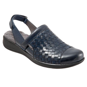 SoftWalk Salina Navy Leather Clog (Women)