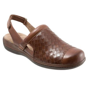 SoftWalk Salina Rust Leather Clog (Women)