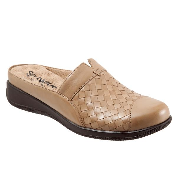 SoftWalk San Marcos Cement Leather Clog (Women)