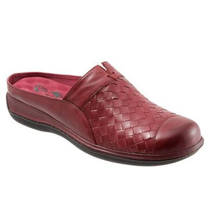 SoftWalk San Marcos Red Leather Clog (Women)