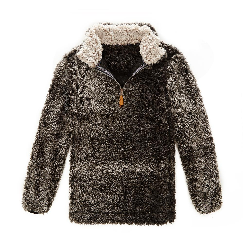 Katy Did Black/Cream Sherpa Pullover (Women)