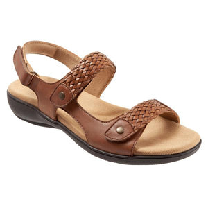 Trotters Teresa Luggage Leather Sandal (Women)
