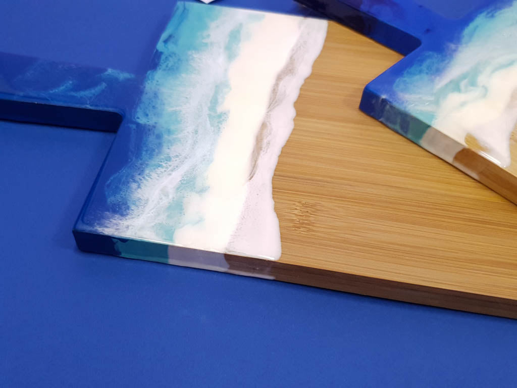 Bamboo resin serving board