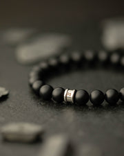Gemini Alpha Mat Black Men's Bracelet
