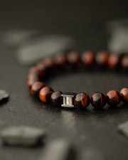 Gemini Bordeaux Men's Bracelet
