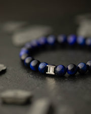 Gemini Dark Blue Men's Bracelet