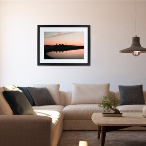 """WHEN THE SUN SET"" FINEART PRINT MIT RAHMEN & PASSEPARTOUT"