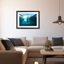 Laden Sie das Bild in den Galerie-Viewer, BLUE PLANET - FINEART PRINT MIT RAHMEN & PASSEPARTOUT