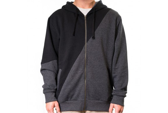 COLOUR BLOCK ZIP HOODY