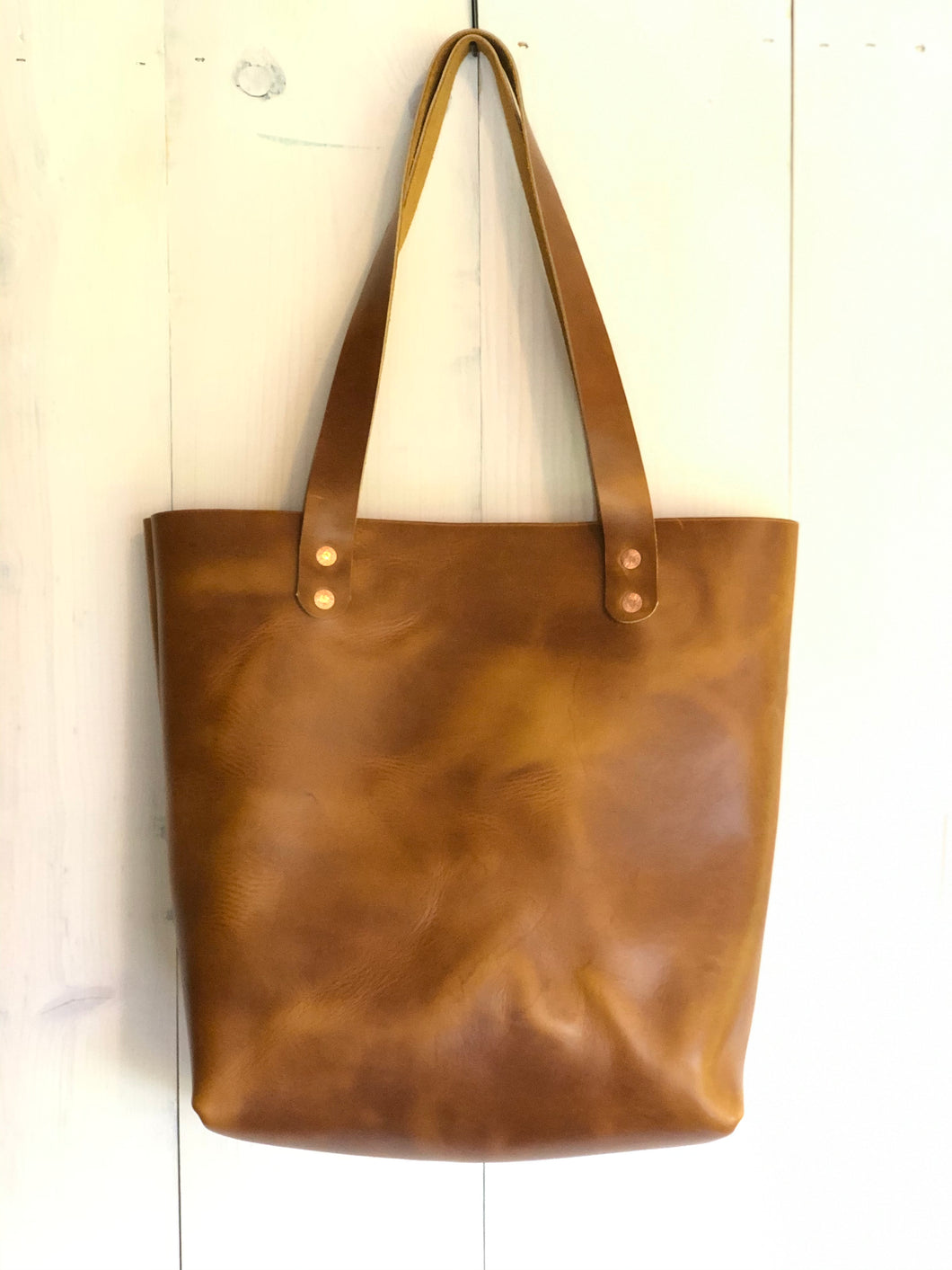 Leather Tote Bag in Horween Sunflower