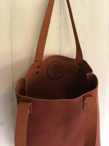 Leather Tote Bag in Horween Chestnut Outland