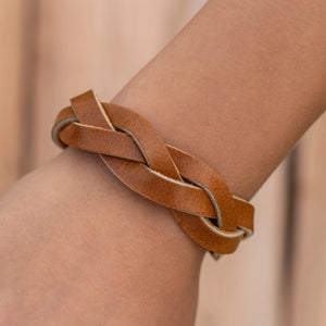 Impossible Braid Leather Bracelet