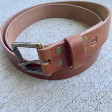 Load image into Gallery viewer, Wicket & Craig Buck Brown Harness Leather Belt